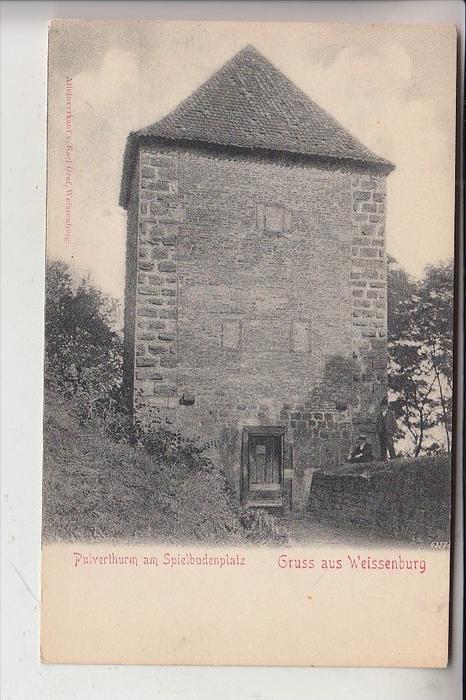 8832 WEISSENBURG, Pulverturm, frühe Karte - ungeteilte Rückseite