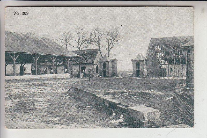 MILITÄR, 1.Weltkrieg, Stellung in einem BNauernhof, Deutsche Feldpost Nahkampfbatterie 227, 1917