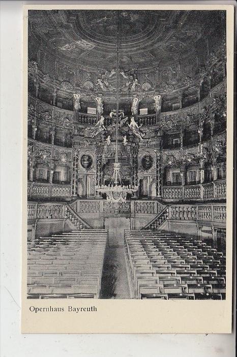 MUSIK, OPER, Opernhaus Bayreuth, Richard Wagner