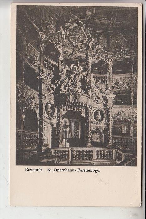 MUSIK, OPER, Opernhaus Bayreuth, Fürstenloge, Richard Wagner