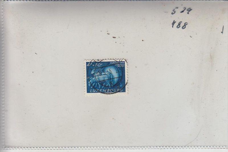 LUXEMBURG, 1954, Caritas 4,- + 50