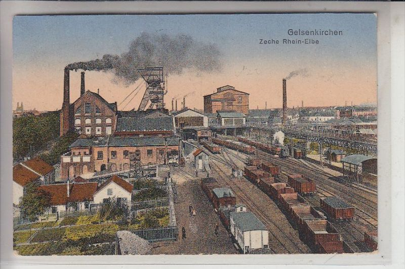 4650 GELSENKIRCHEN, Bergbau / Mining, Zeche Rhein-Elbe, 1923