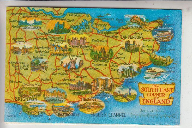 LANDKARTEN / MAPS - South East Corner of England
