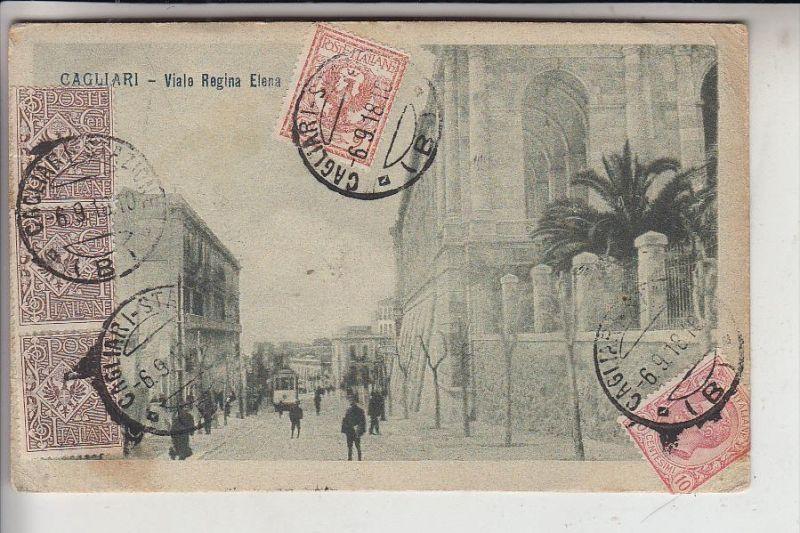 I 09100 CAGLIARI, Viale Regina Elena, 1918, Tram