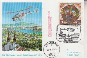 HUBSCHRAUBER / HELIKOPTER, Hubschrauberflug Leonding