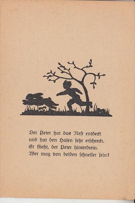 SCHATTENBILD - OSTERN / Easter / Paques / Pasen Pasqua