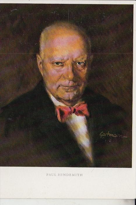 MUSIK - KOMPONIST - PAUL HINDEMITH, Gemälde von P. Gartmann