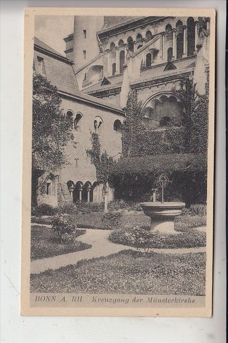 5300 BONN, Münsterkirche, Kreuzgang