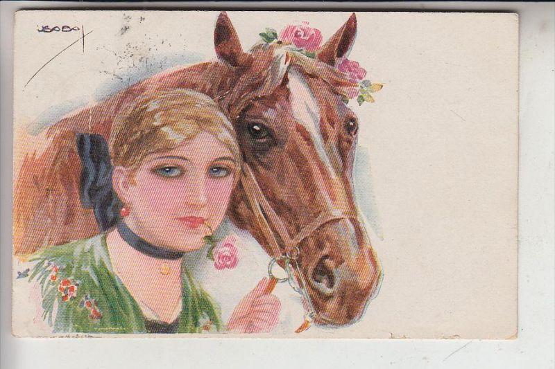 KÜNSTLER - ARTIST - USABAL / Pferd / Horse, 1918, ERKAL 328/6
