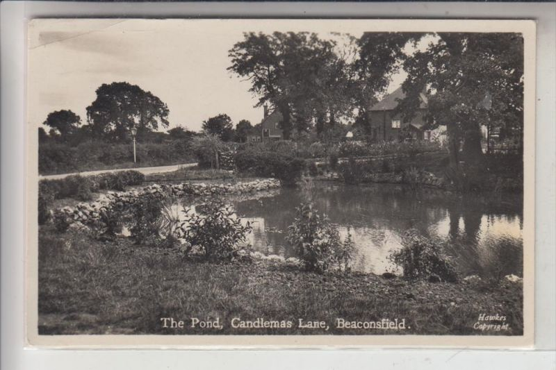 UK - ENGLAND -BUCKINGHAMSHIRE - BEACONSFIELD, The Pond, Candlemans Lane, 1953