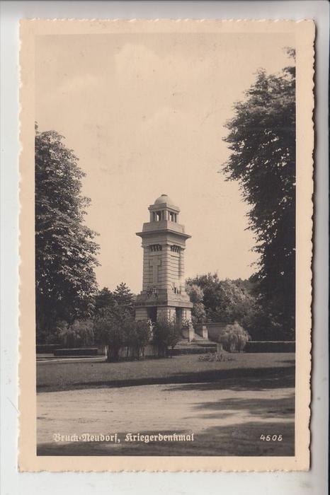 A 2460 BRUCKNEUDORF, Kriegerdenkmal, 1939, Verlag: Deutscher Schulverein Südmark