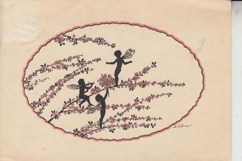 KÜNSTLER - ARTIST - ELISABETH FORCK - Schattenbild - Elfen, 1941