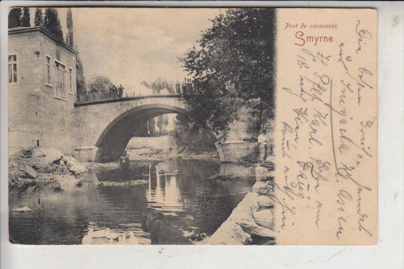 TR - IZMIR / SMYRNA, Pont de caravanes, 1907