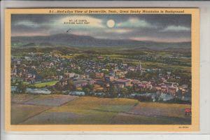 USA - TENNESSEE - Sevierville, Bird's eye View - Teich-card