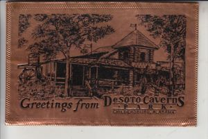 USA - ALABAMA - CHILDERSBURG - Desoto Caverns, metal - card