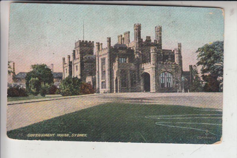 AUS - SYDNEY - Government House, 1910
