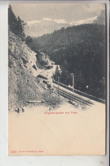 CH 6000 LUZERN, Luzern - Stans, Engelbergbahn, Schmalspurbahn, frühe Karte - ungeteilte Rückseite