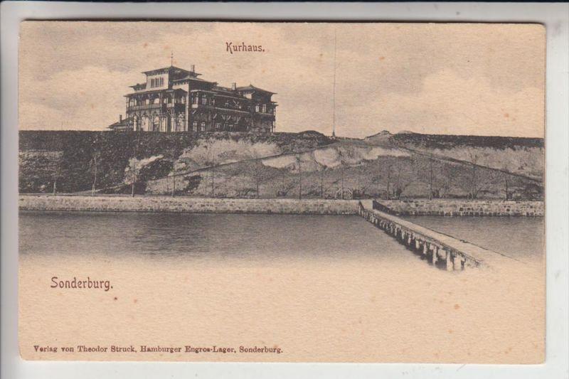 DK 6400 SONDERBORG / SONDERBURG, Kurhaus, frühe Karte - ungeteilte Rückseite