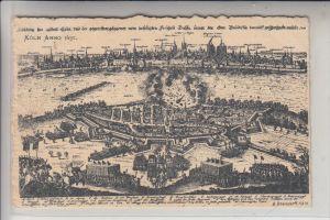 5000 KÖLN - DEUTZ, Historische Ansicht, Deutz & Köln im Jahre 1632, Überfall der Schweden