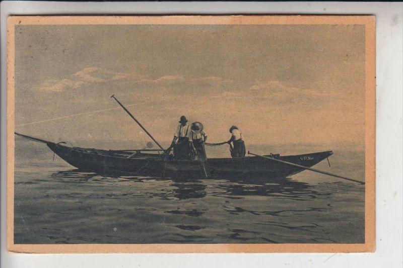 FISCHFANG / Fishing - Felchnfänger am Bodensee, 1921