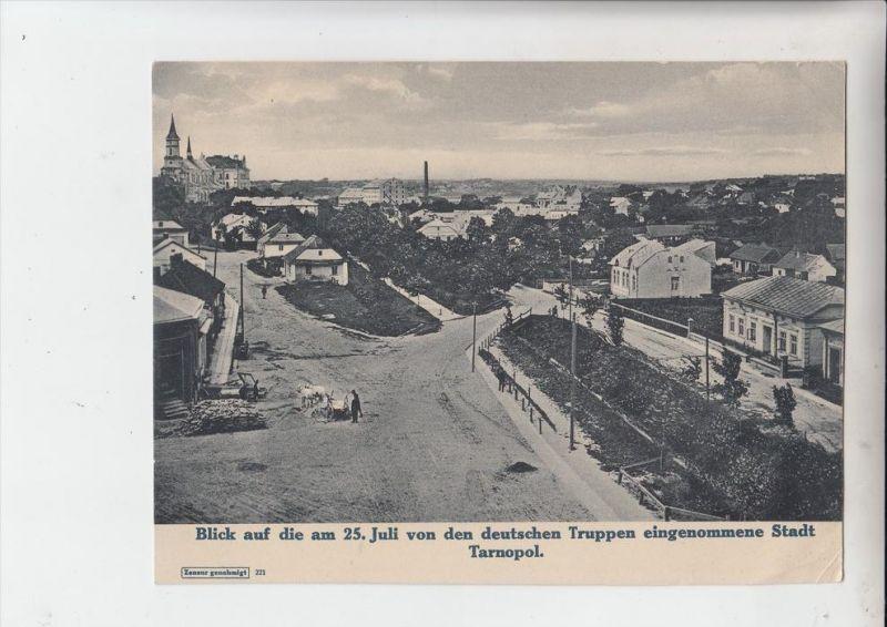 UA 46000 TARNOPOL - TERNOPIL, Militär 1.Weltkrieg, Stadtansicht der eroberten Stadt, Photo 18 x 23,5 cm