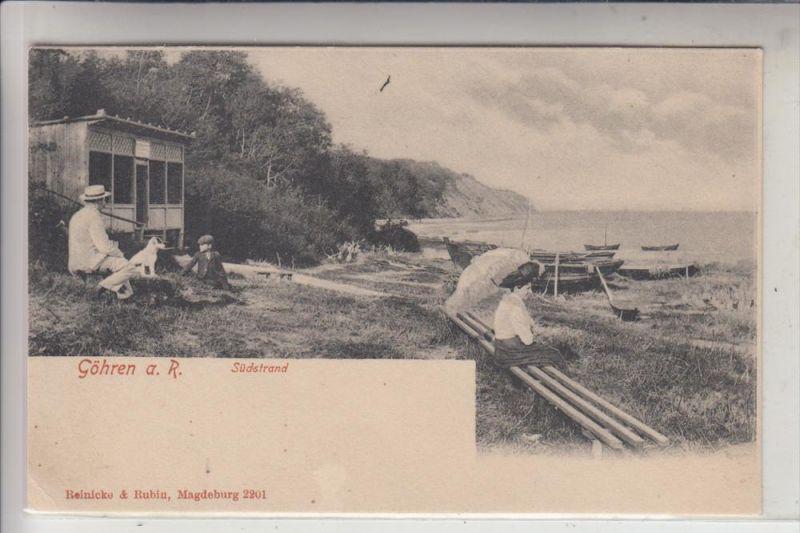 0-2345 GÖHREN, Südstrand, frühe Karte - ungeteilte Rückseite