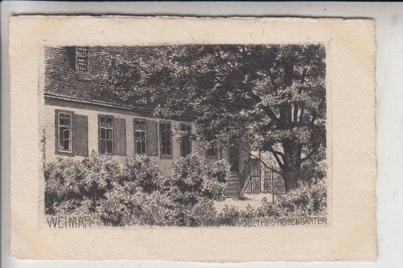 0-5300 WEIMAR, Goethes Rosengarten, Künstler-Karte, Jander-Berlin