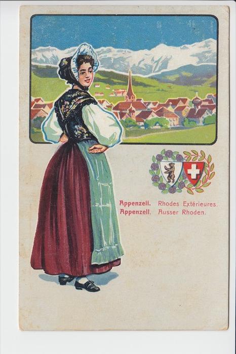 CH 9050 APPENZELL, Tracht & Wappen