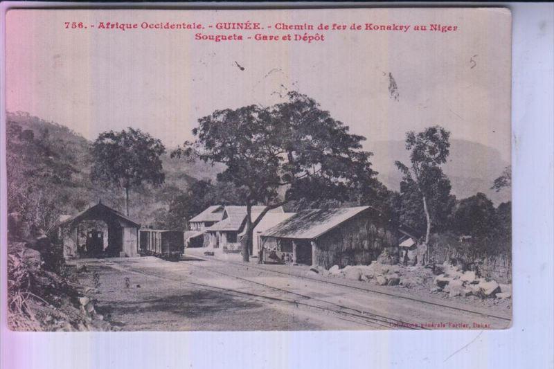 GUINEA - CONAKRY - Chemin de fer / Gare & Depot, 1915 - Bahnhof / Station