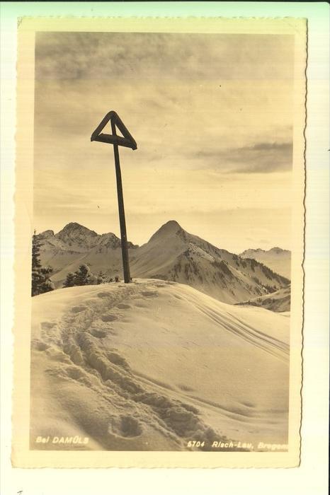 A 6733 FONTANELLA, Bei Damüls, 1941, Landpoststempel