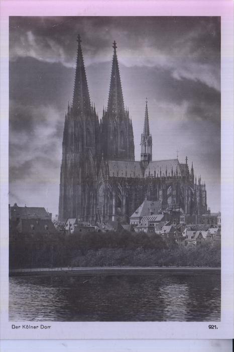 5000 KÖLN, KÖLNER DOM, Vorkriegsansicht vom Rhein, Rheingoldserie