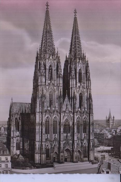 5000 KÖLN, KÖLNER DOM, Dom von der Westseite , Rheingoldserie