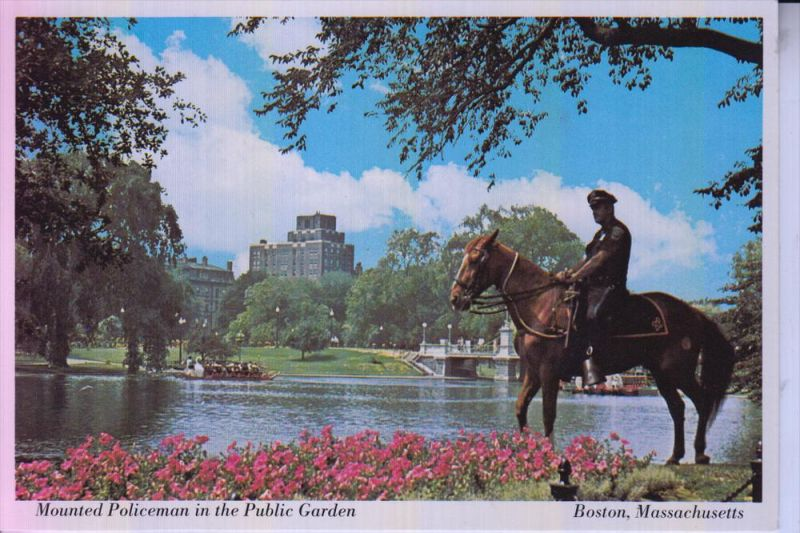POLIZEI / Police - Boston, Mounted Policeman in the Public Garden