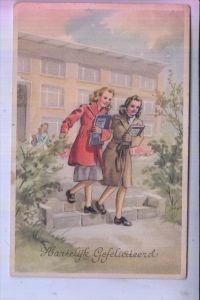 SCHULE - Hartelijk Gefeliciteerd, 1957, rückseitig kl. Papiermangel