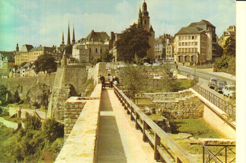 L 1000 LUXEMBURG, Les vestiges des rochers du BOCK, Schaack-Lux.