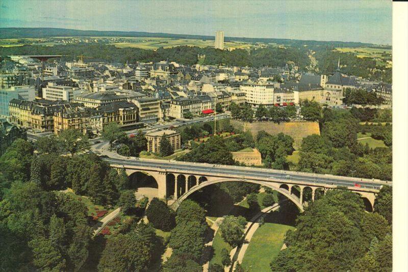 L 1000 LUXEMBURG, Vue airienne du pont Adolphe, Schaack-Lux.