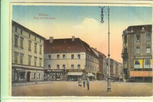 OBER-SCHLESIEN - RATIBOR / RACIBORZ, Ring mit Oderstrasse