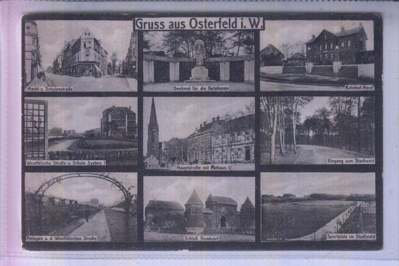 4200 OBERHAUSEN - OSTERFELD, Mehrbildkarte, 1931, u.a. Bahnhof Nord 0
