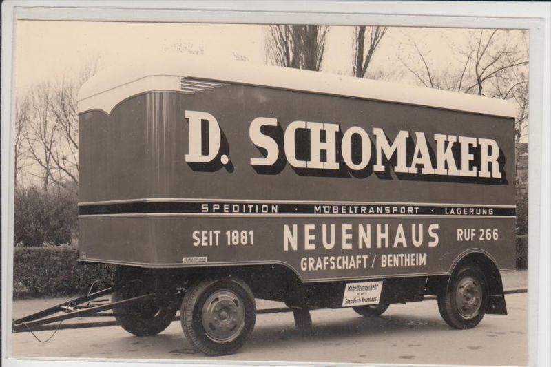 4459 UELSEN - NEUENHAUS, Möbeltransport D. Schomaker, Photo 9,4 x 14,4 cm 0