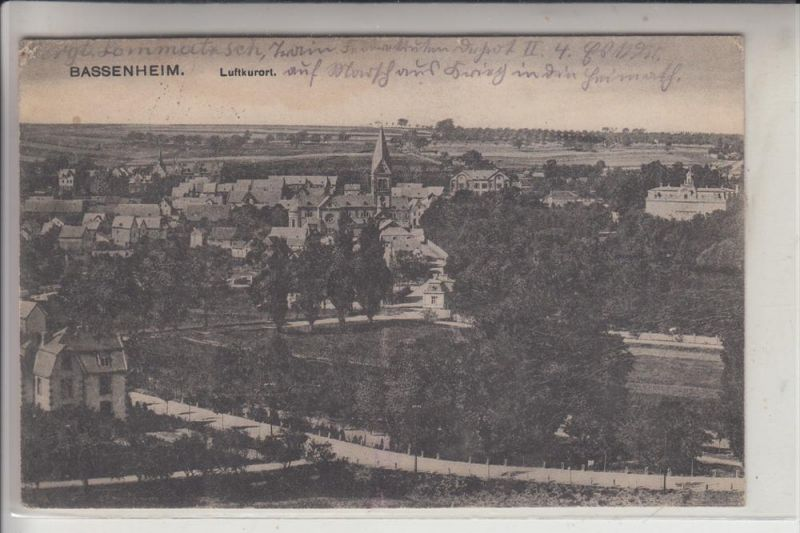 5401 BASSENHEIM, Ortsansicht, 1918 0