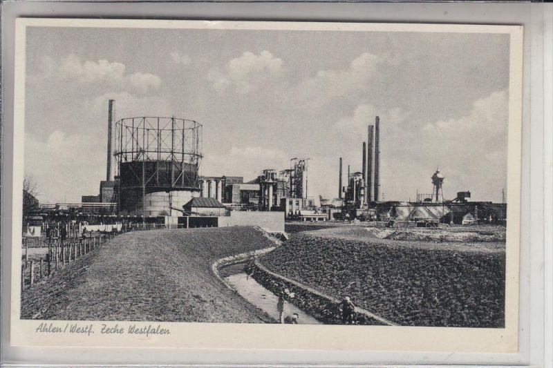 4730 AHLEN, Zeche Westfalen, 1955,  Bergbau - mining 0