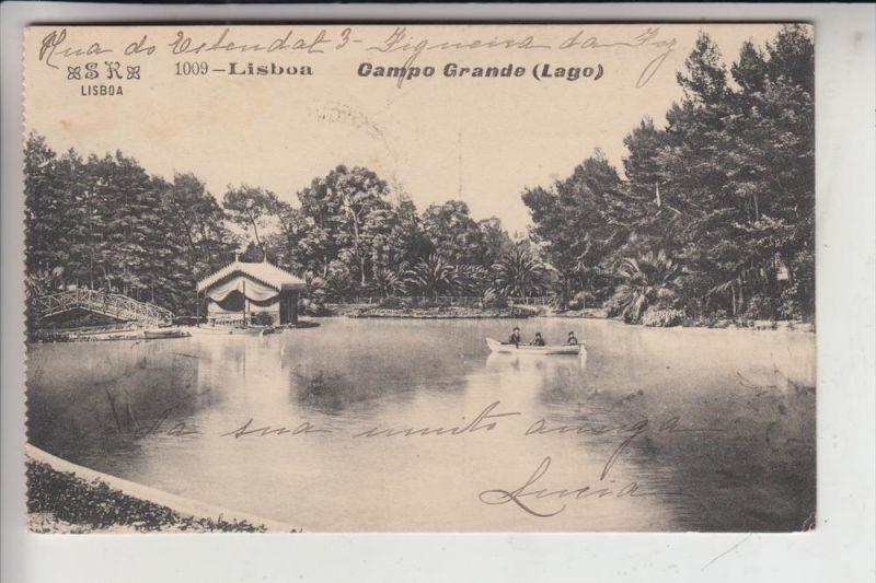 P 1000- LISBOA / LISSABON, Campo Grande, stamp missing