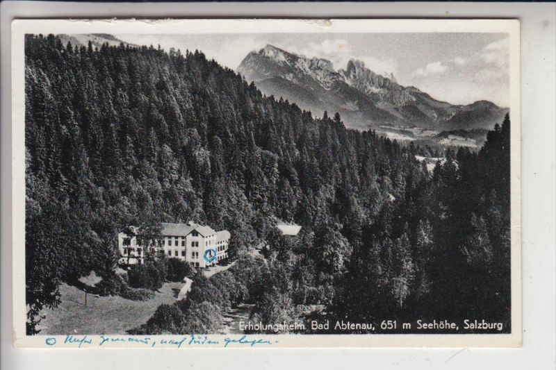 A 5441 ABTENAU, Erholungsheim Bad Abtenau 1957