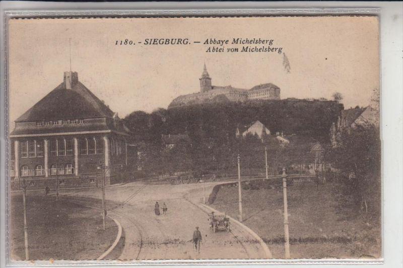 5200 SIEGBURG, Landratsamt & Abtei Michaelsberg, aus der Zeit der Rheinlandbesetzung
