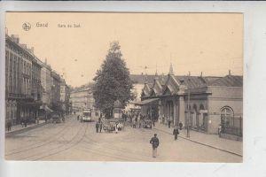 B 9000 GENT, Zuidstatie, Bahnhof / Station / La Gare, Strassenbahn-Tram