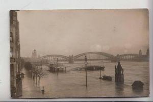 5000 KÖLN, EREIGNIS, Hochwasser Rheinufer, 1925, Photo-AK