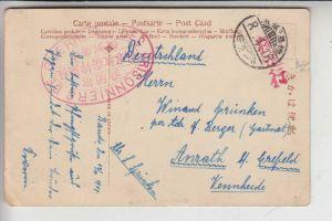 KRIEGSGEFANGENEPOST / POW / LAGER BANDO / Japan, 8.4.16 nach Anrath Deutschland, Zensur