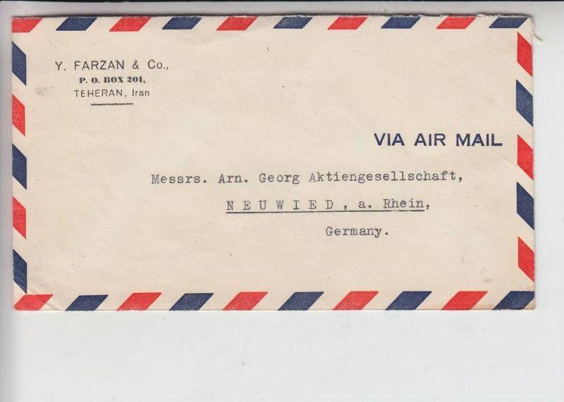 IRAN - PERSIEN - Luftpostbrief Teheran - Neuwied, Michel 799 / 805 / 806