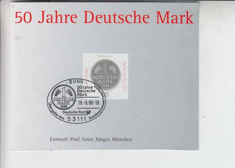 GELD - MÜNZEN - Sonderstempel 50 Jahre Deutsche Mark 1998