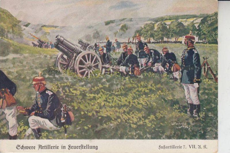 MILITÄR - Fussartillerie 7.  VII Artillerie Regiment, Schwere Artillerie in Feuerstellung